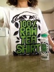 100% Raw Tea Shirt and Bottle from Harmless Harvest