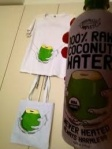 100% Raw Coconut Water, Tee-shirt and Tote Bag