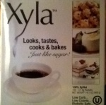 Front of box, of Xyla (trade name of product)