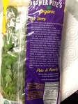 "Back of package of Watercress with ""Our Story"" from Pete and Family"