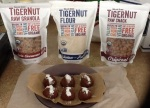 Tiger Nut Products: Tiger Nut, Raw Granola and Flour My creation: Cacao Tiger Nut Flour Ssesame Butter Balls